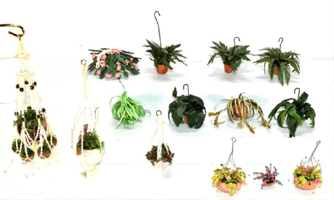 Dollhouse Ferns & Macramé Hangers Miniatures