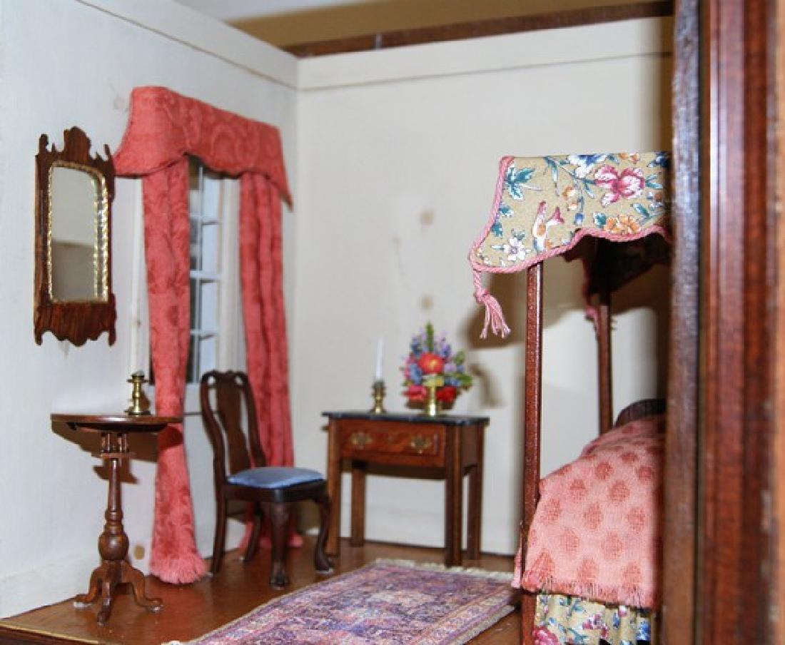 Vintage Small Single Bedroom Box Dollhouse - 2