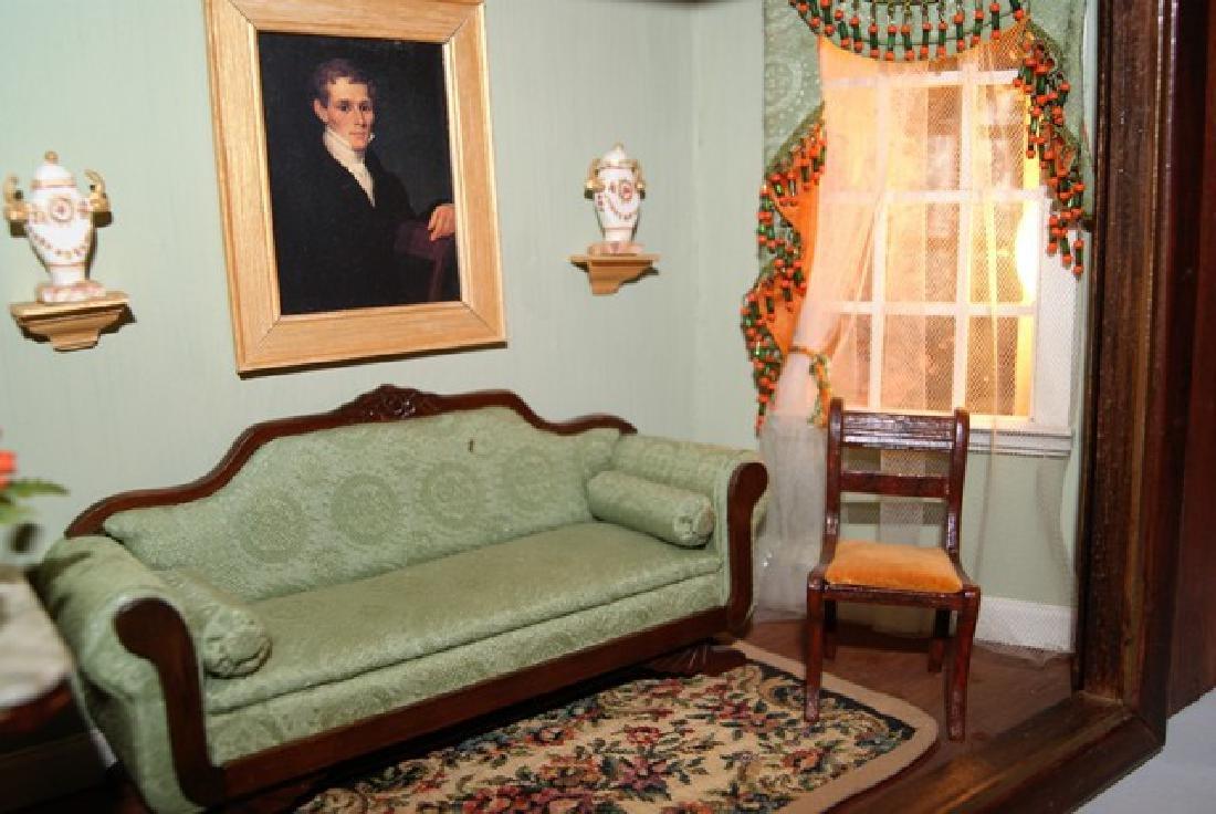 Vintage Victorian Small Living Room Box Dollhouse - 3