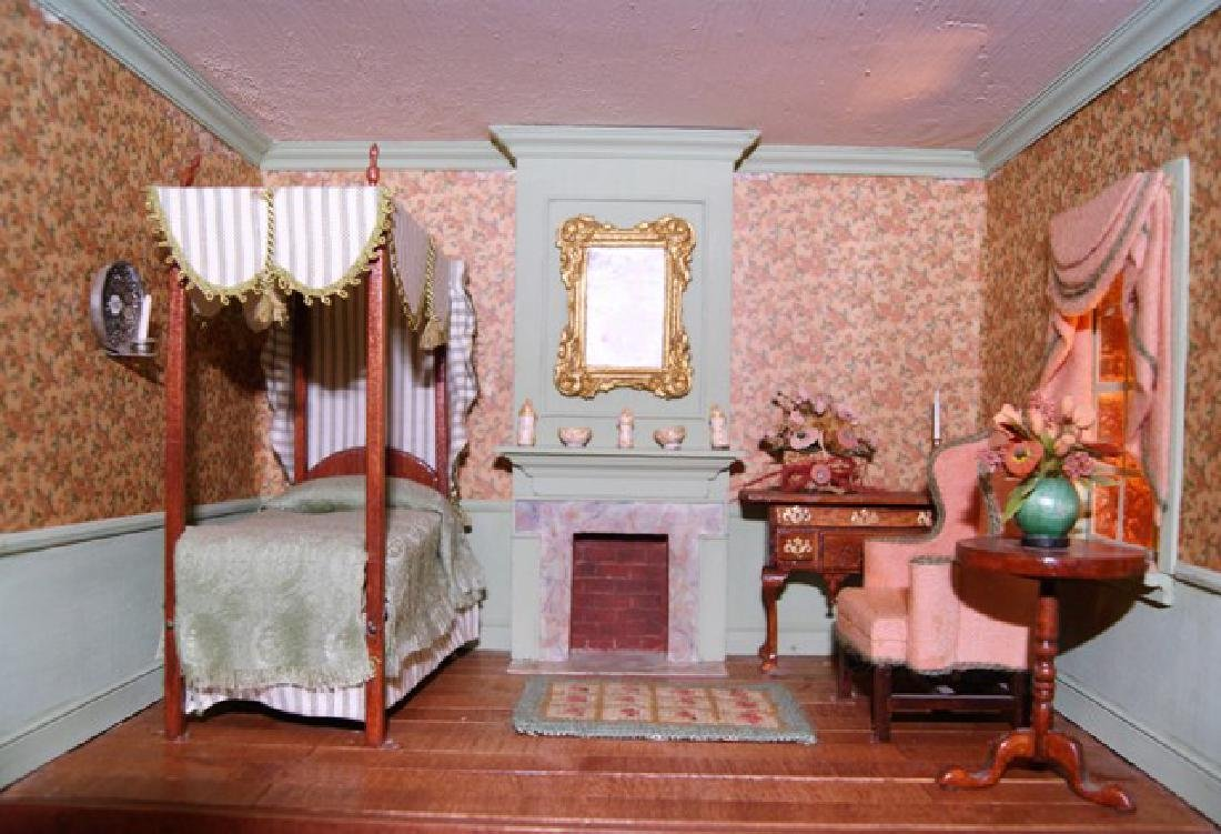Vintage Six Room Room Box Dollhouse - 4