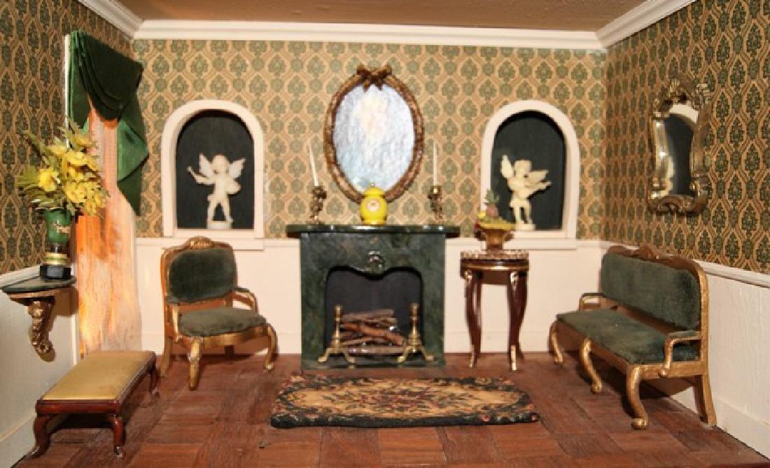 Vintage Six Room Room Box Dollhouse - 5
