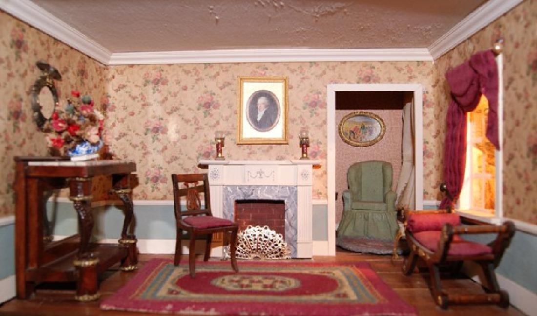 Vintage Six Room Room Box Dollhouse - 6