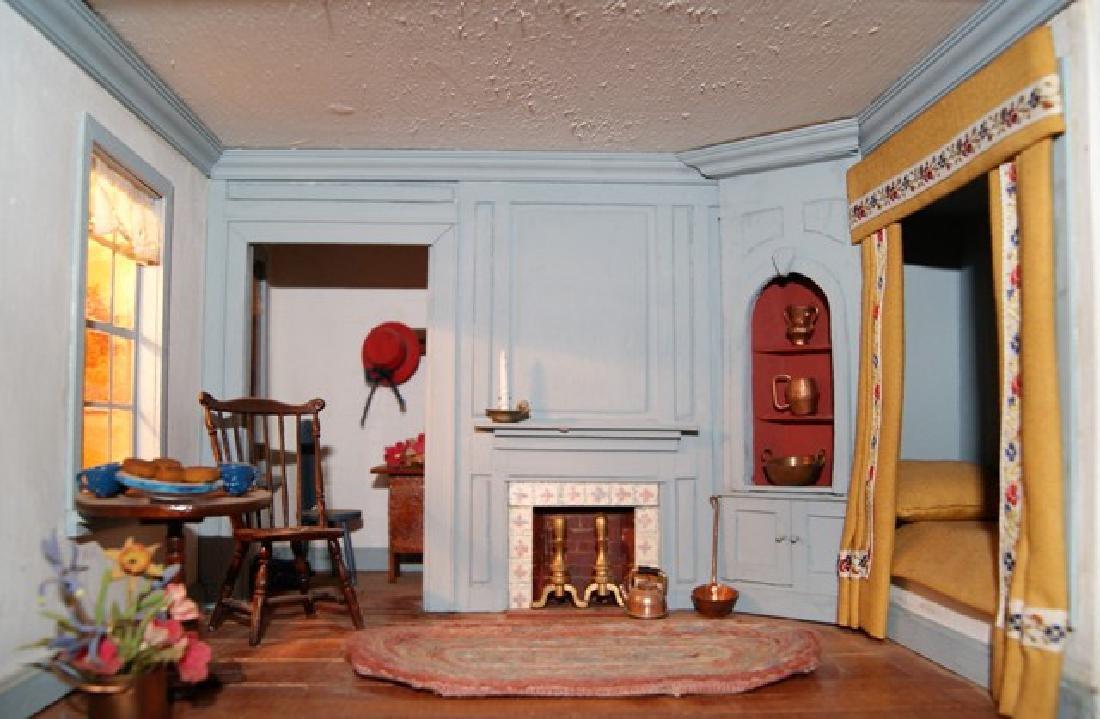Vintage Six Room Room Box Dollhouse - 7