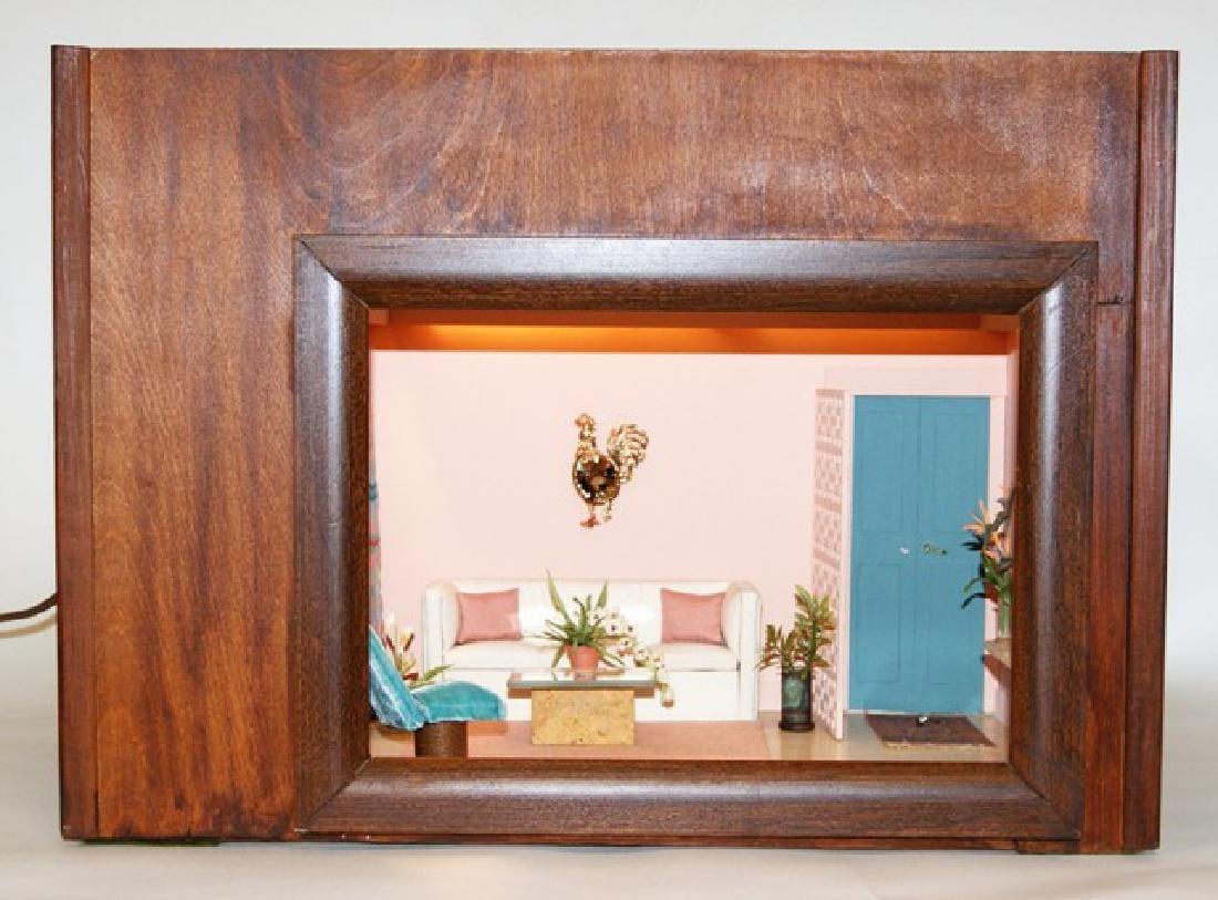 Vintage Mid-Century Single Room Box Dollhouse