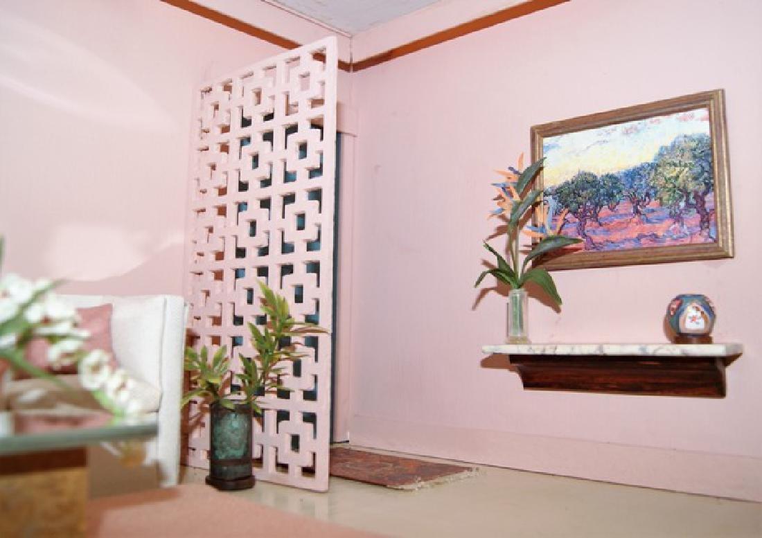 Vintage Mid-Century Single Room Box Dollhouse - 3
