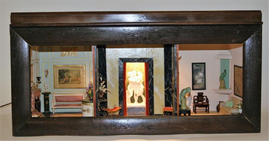 Vintage Three Room Box Dollhouse