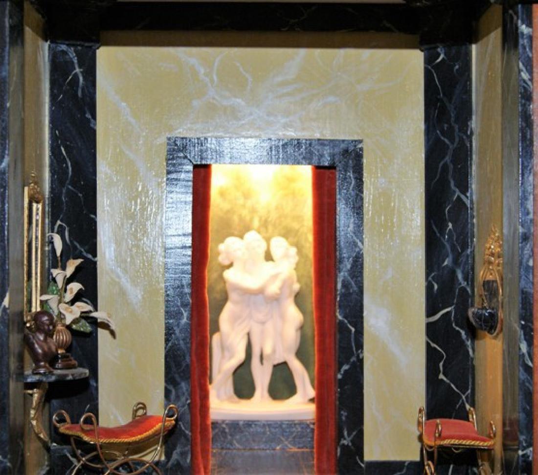 Vintage Three Room Box Dollhouse - 4