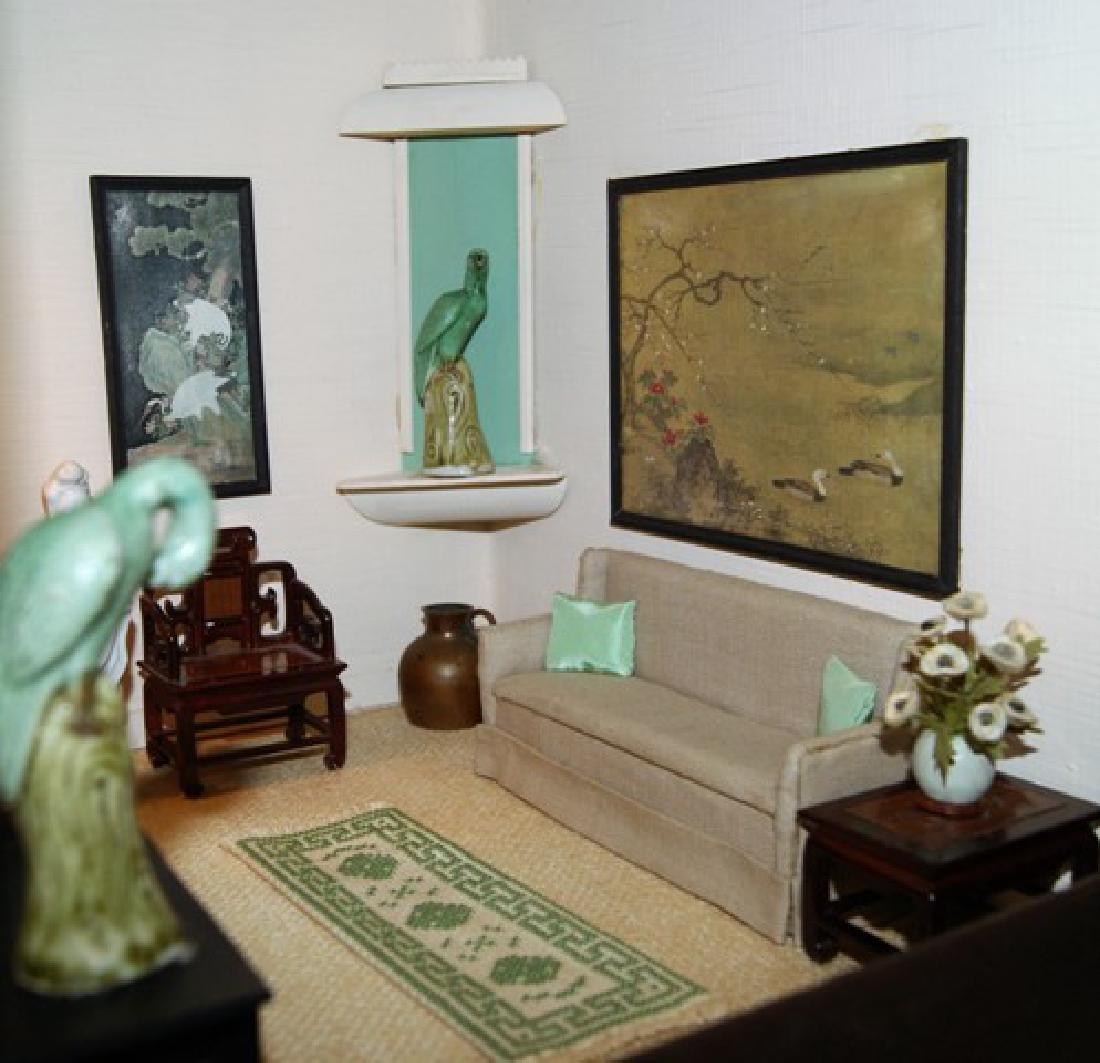 Vintage Three Room Box Dollhouse - 6