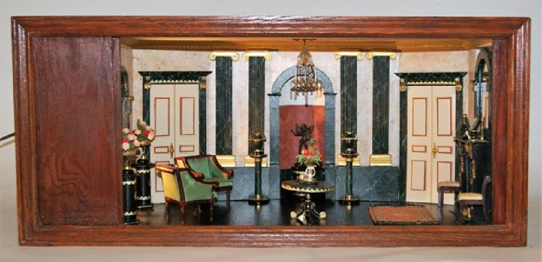 Vintage French Style Single Room Box Dollhouse