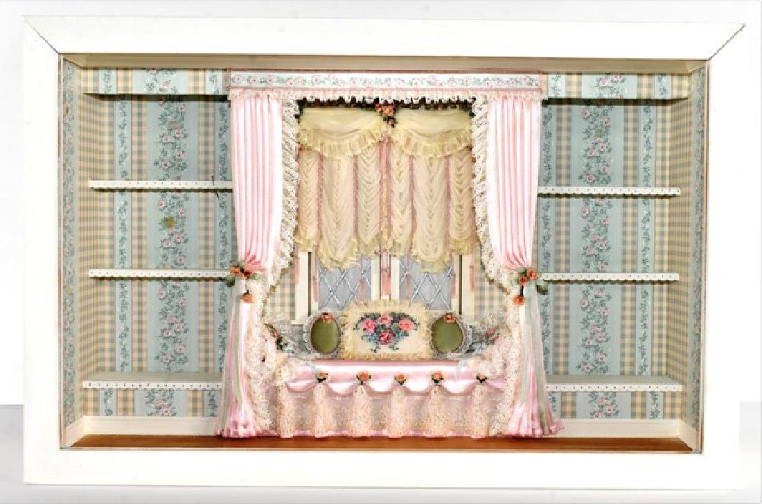 Shallow Window Seat Room Box Dollhouse