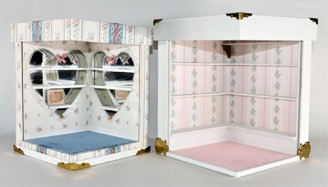 Two Small Room Box Dollhouses
