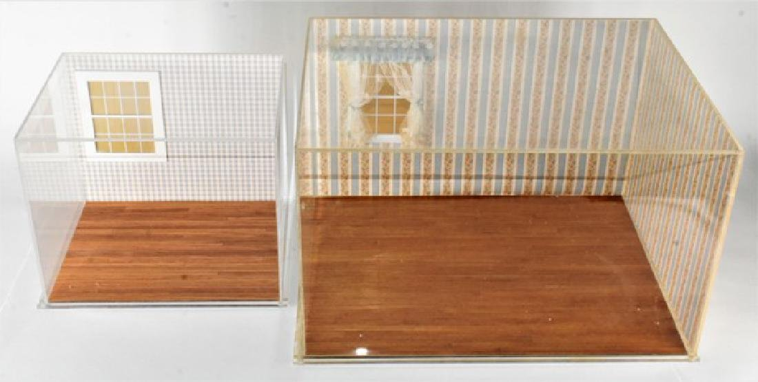 Two Small Room Boxes Dollhouses