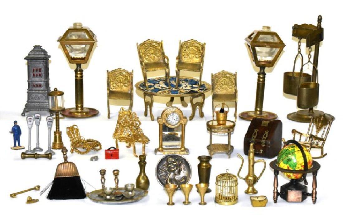 Dollhouse Brass & Metal Accessories Miniatures