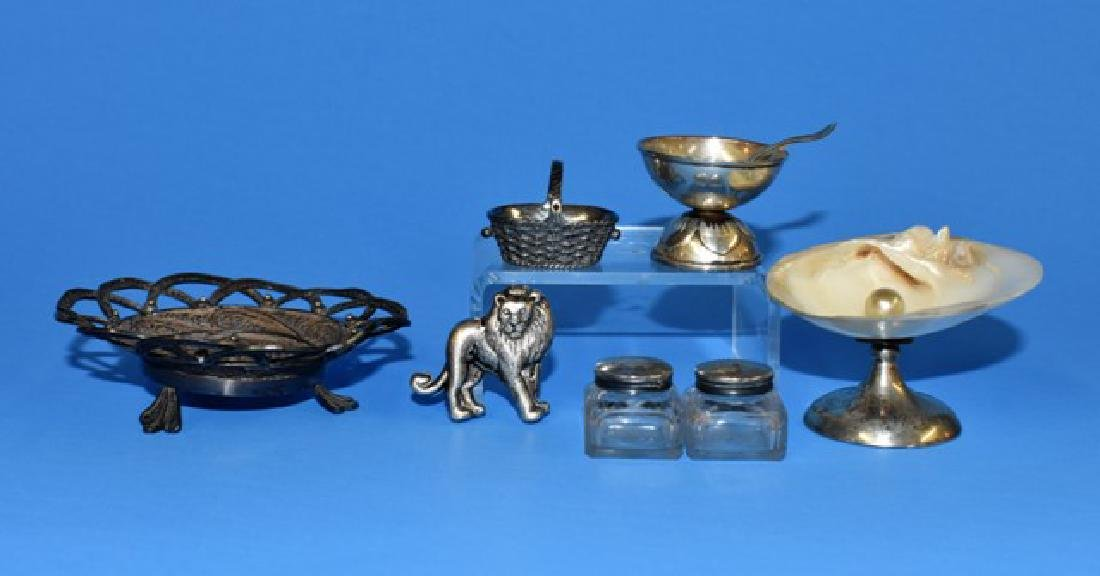 Dollhouse Sterling Accessories and Tea Set Miniatures