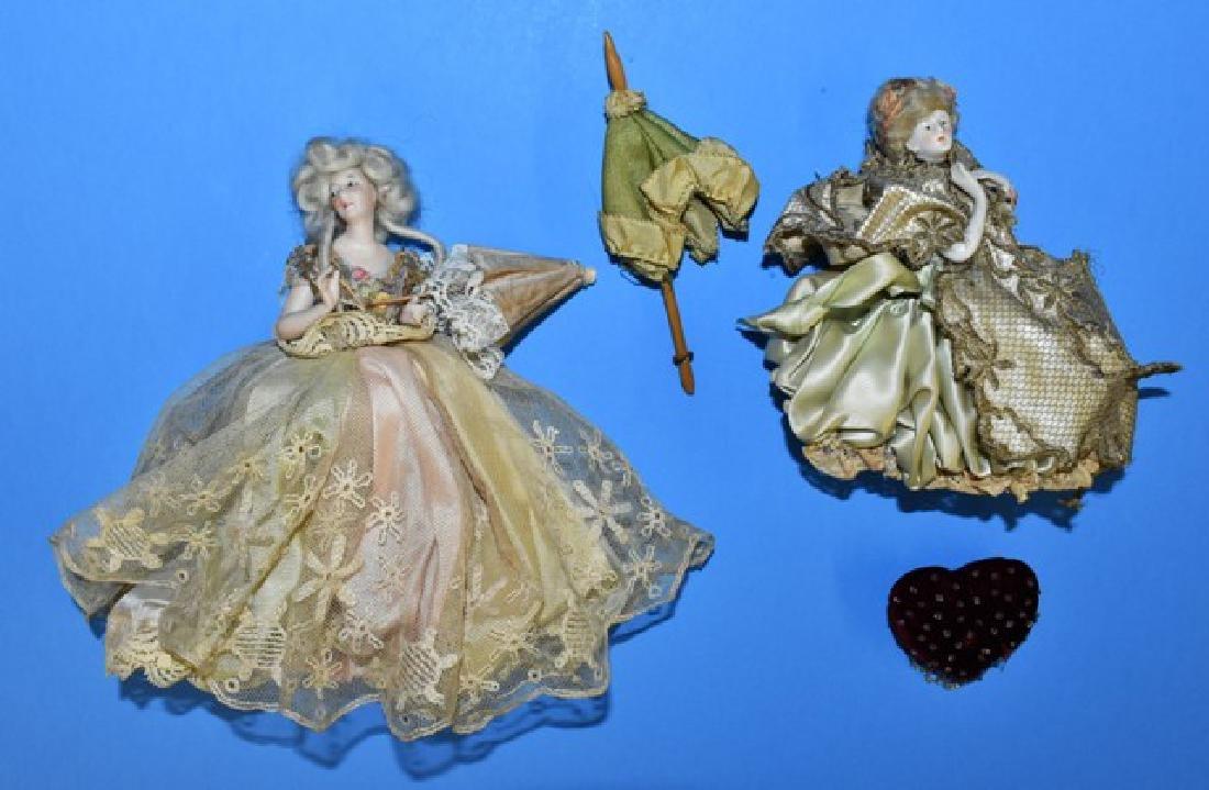 Pair of Vintage Dollhouse Half Dolls