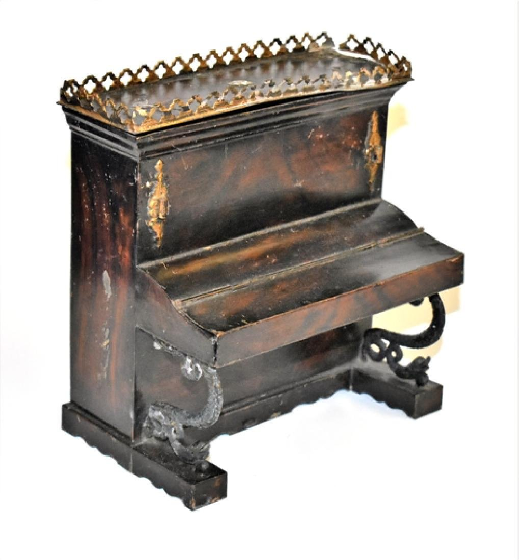 Rare Rock & Graner Tin Piano Dollhouse Miniature
