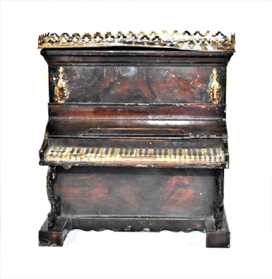 Rare Rock & Graner Tin Piano Dollhouse Miniature - 3