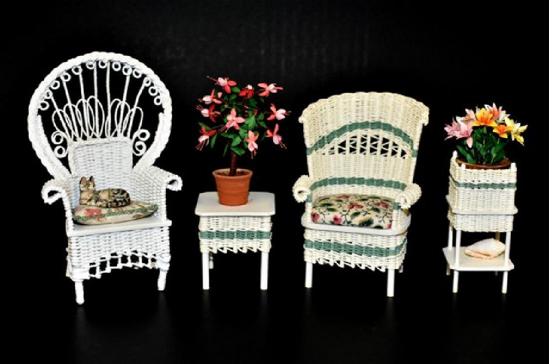 Rankin & McCurley Wicker Furniture for Dollhouse