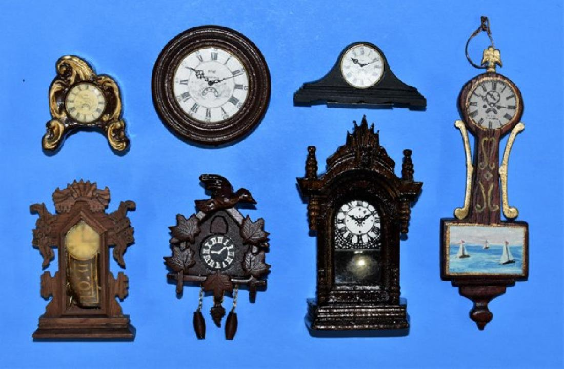 Second Homes, Hallsted & Others Dollhouse Clocks