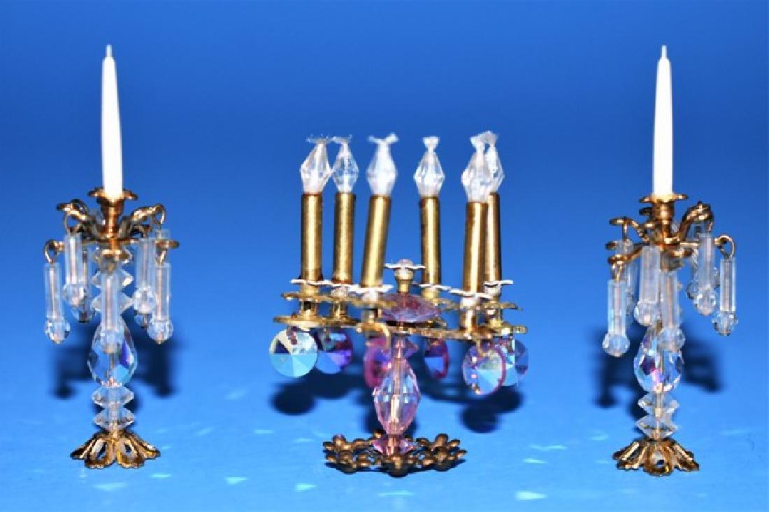 Phyllis Tucker Candelabra & Candlesticks For Dollhouse