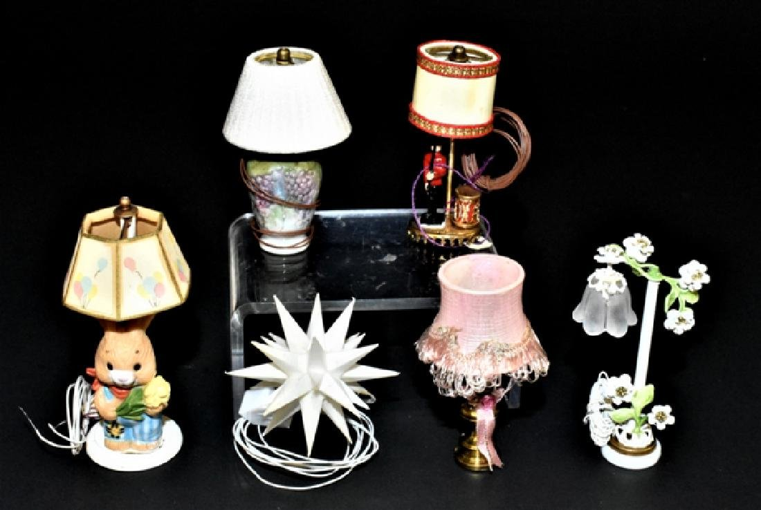 Tucker, Ginger & Others Dollhouse Lighting Miniatures