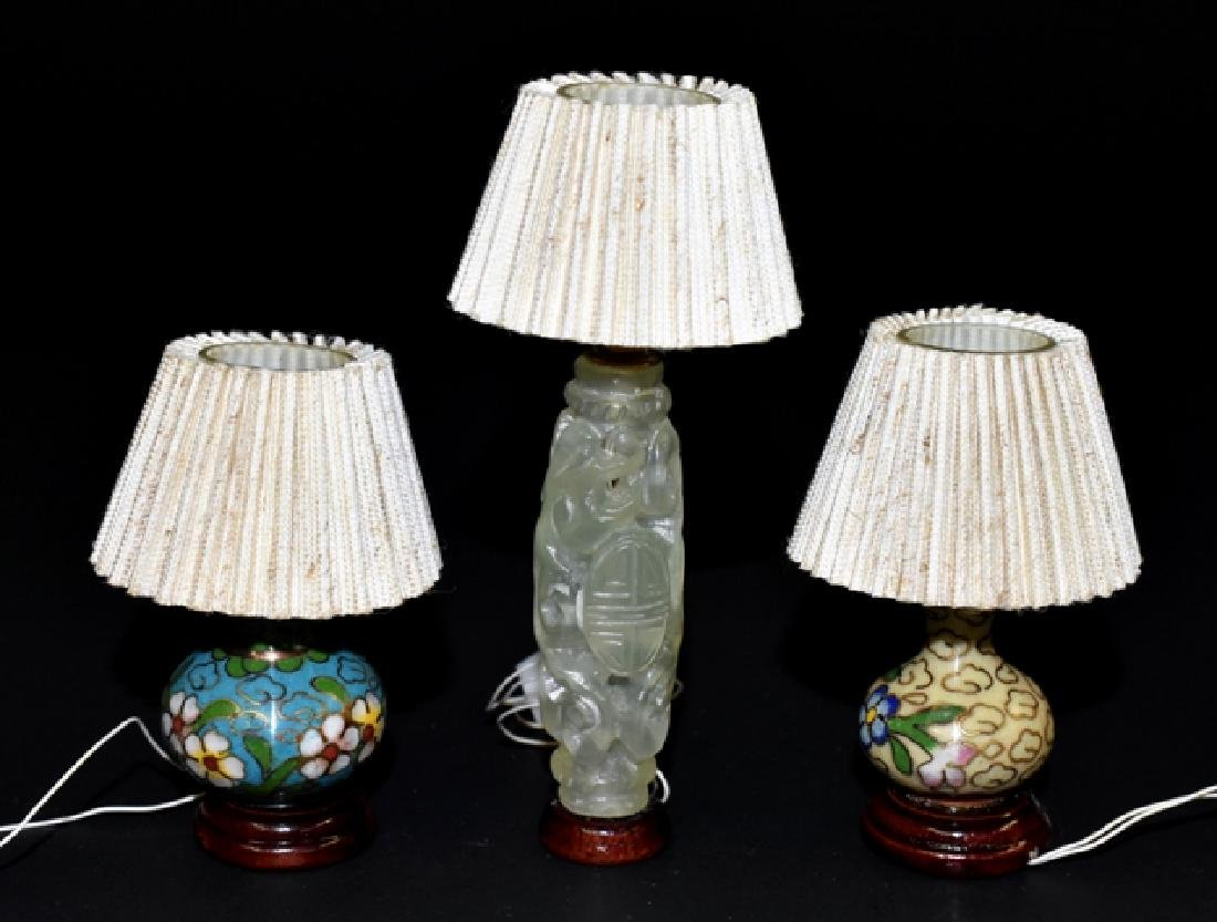 B.J. Houston Jade & Cloissone Lamps for Dollhouse