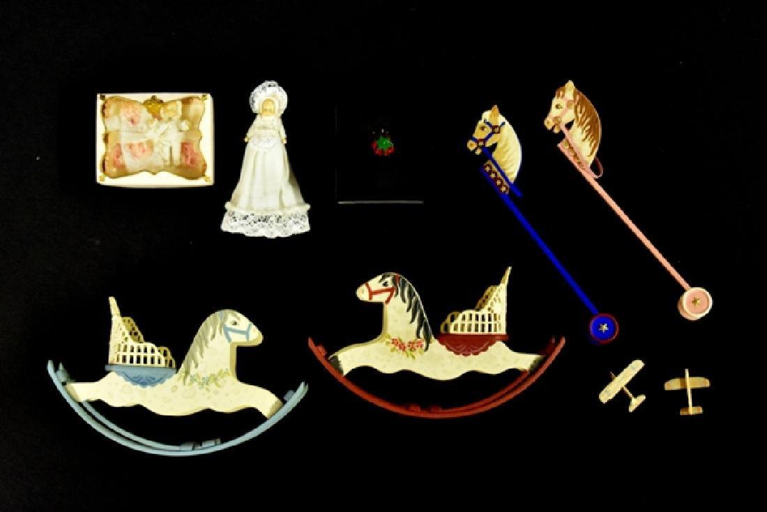 Linda Stier Dollhouse Rocking Horses & Toys Miniatures
