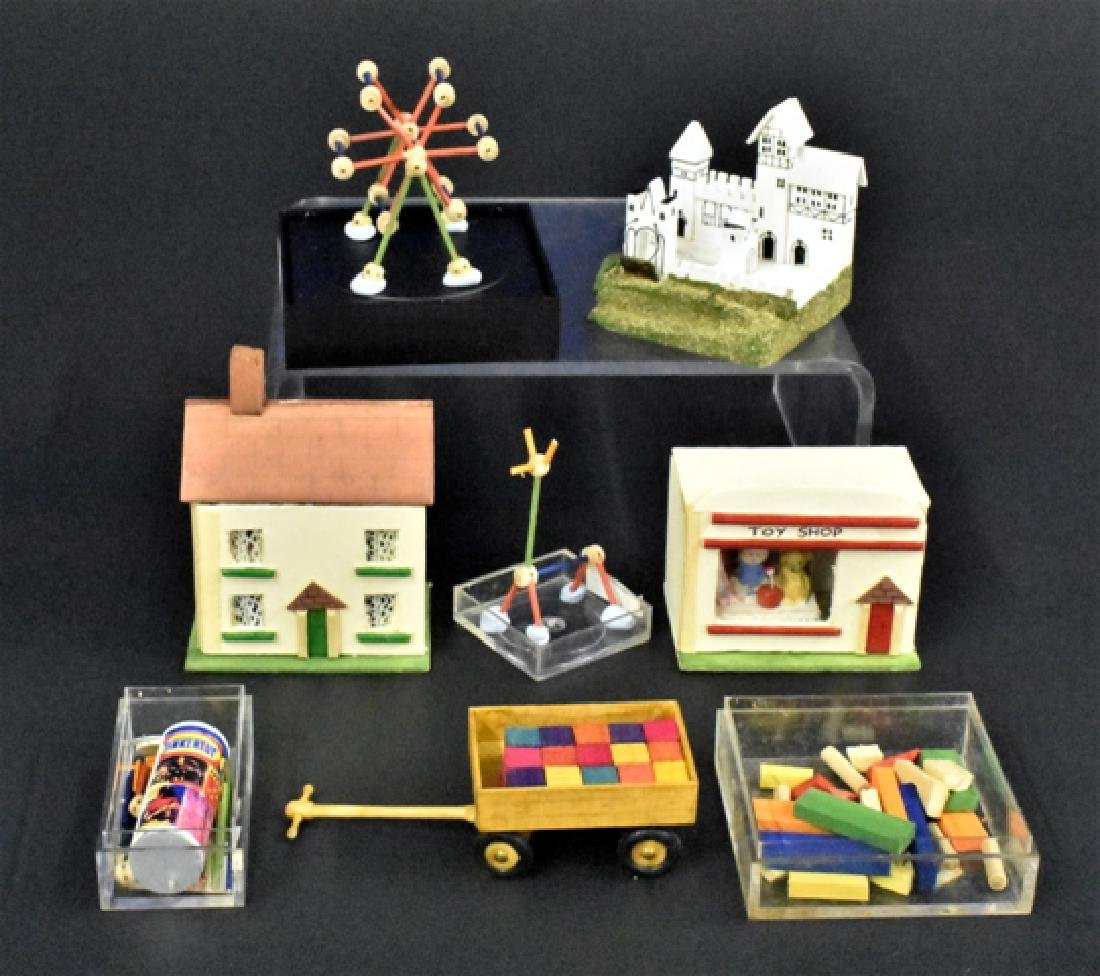 Wood Toys for the Dollhouse Miniatures