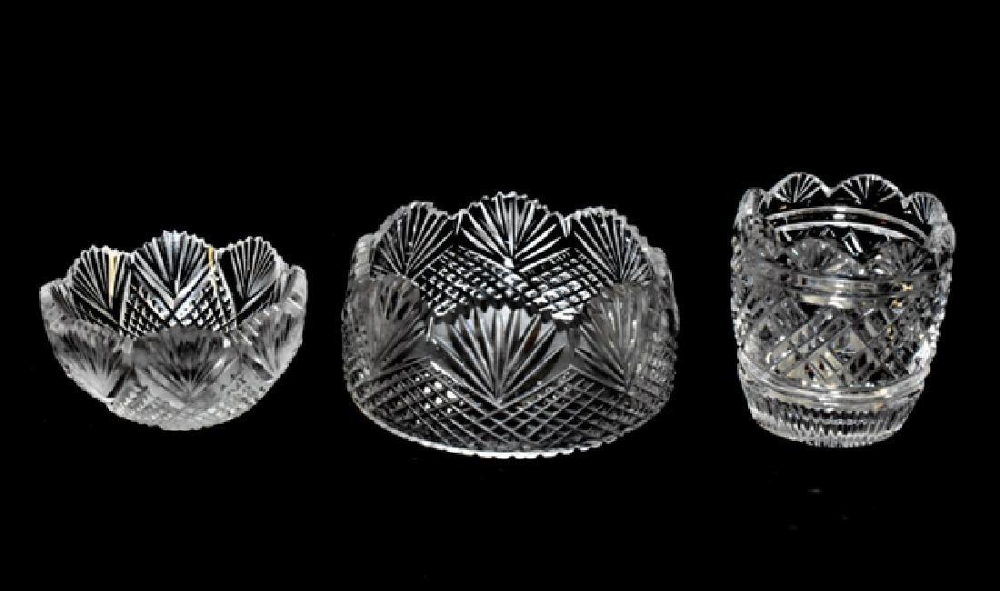 Three Jim Irish Cut Glass Bowls for Dollhouse