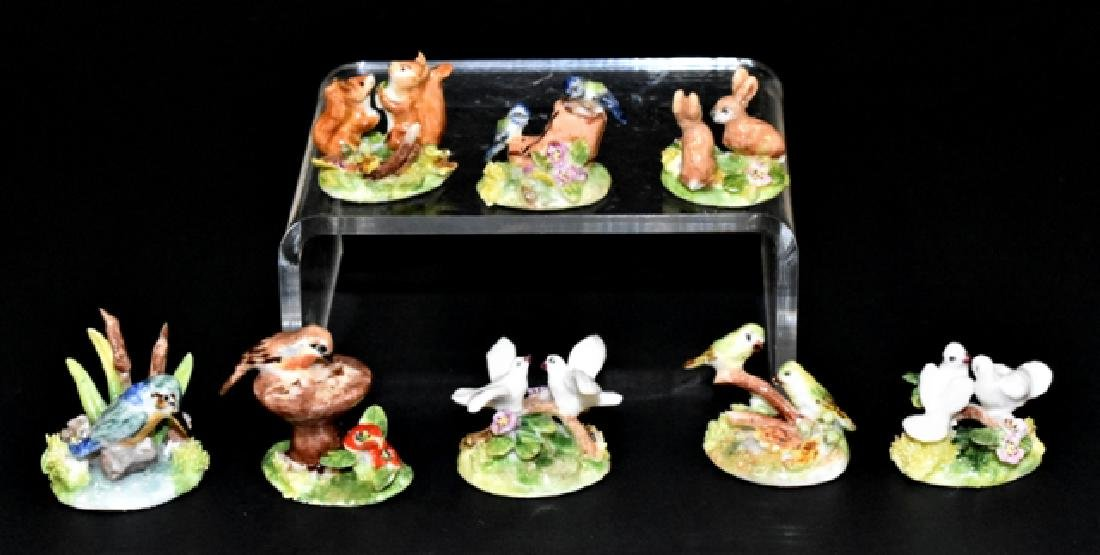 Ann Dalton Porcelain Birds, Rabbits & Squirrels