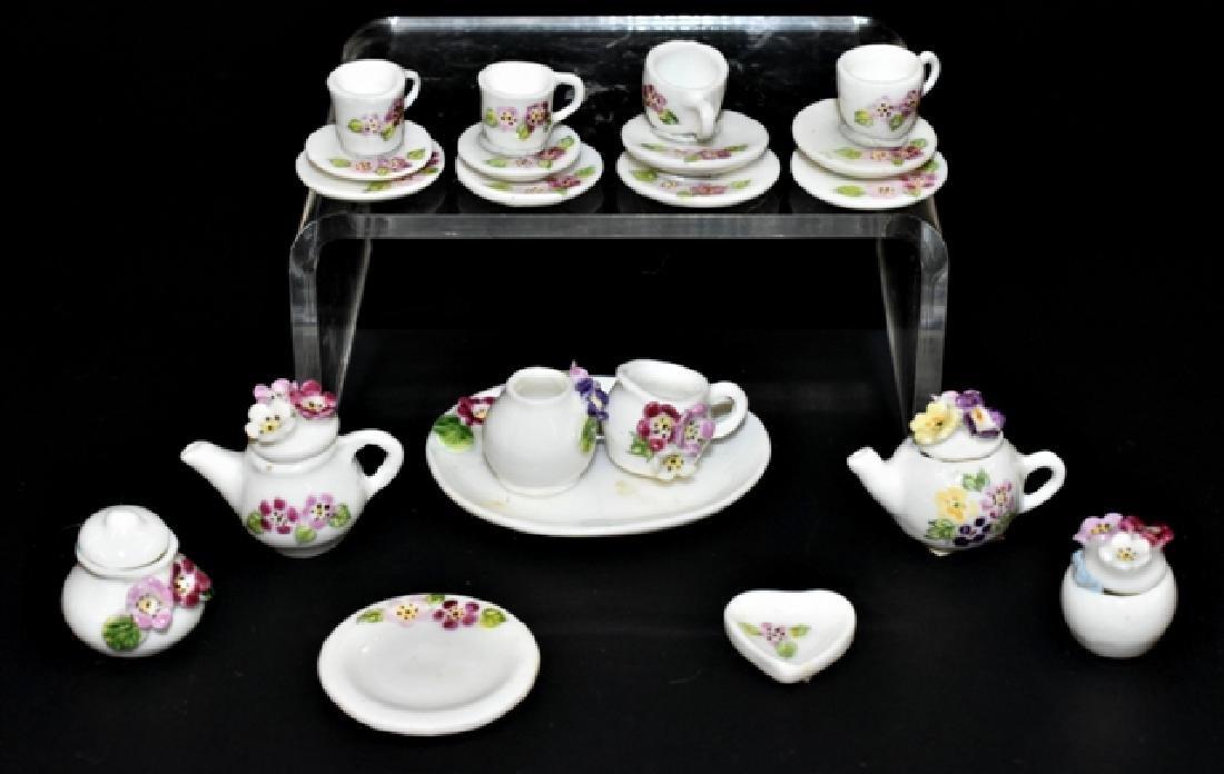 Ann Dalton Floral Tea Set Dollhouse Miniatures