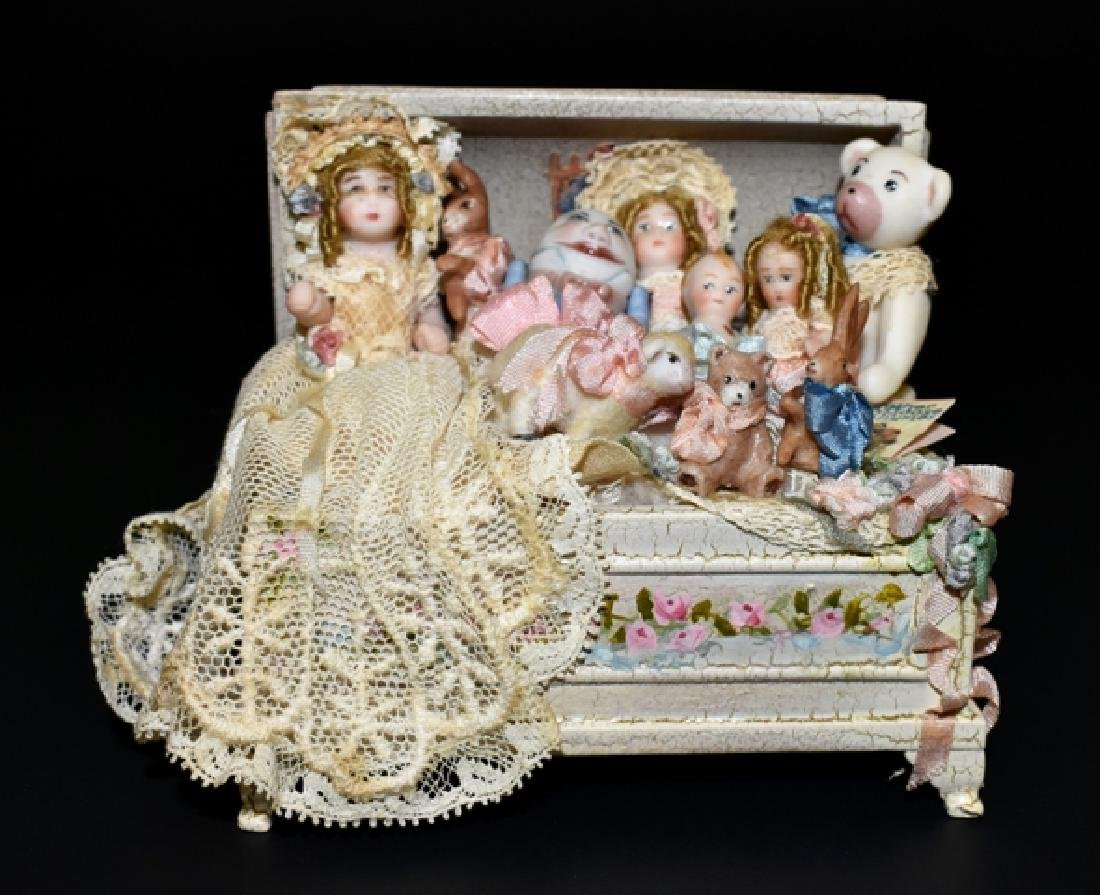 Lynne McEntire Trunk of Dolls & Toys Dollhouse