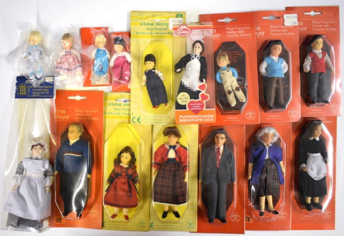 Erna Meyer 14 Dollhouse Miniature Dolls & Others