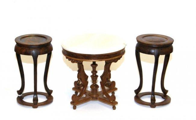 Judy Williamson Oriental Plant Stand & Joe Turner Table - 4