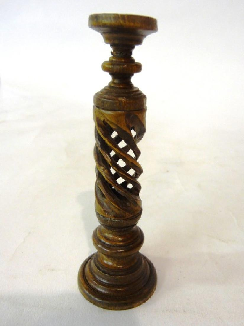 Alice Zinn Twisted Plant Stand with Peacock Feather