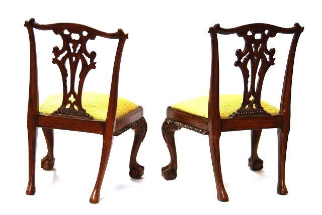John Hodgson Chippendale Chairs Dollhouse Miniatures - 3