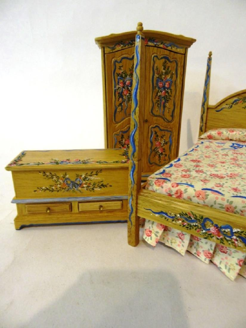 Cottage Bedroom Set Painted by Pasic Dollhouse  Set - 2