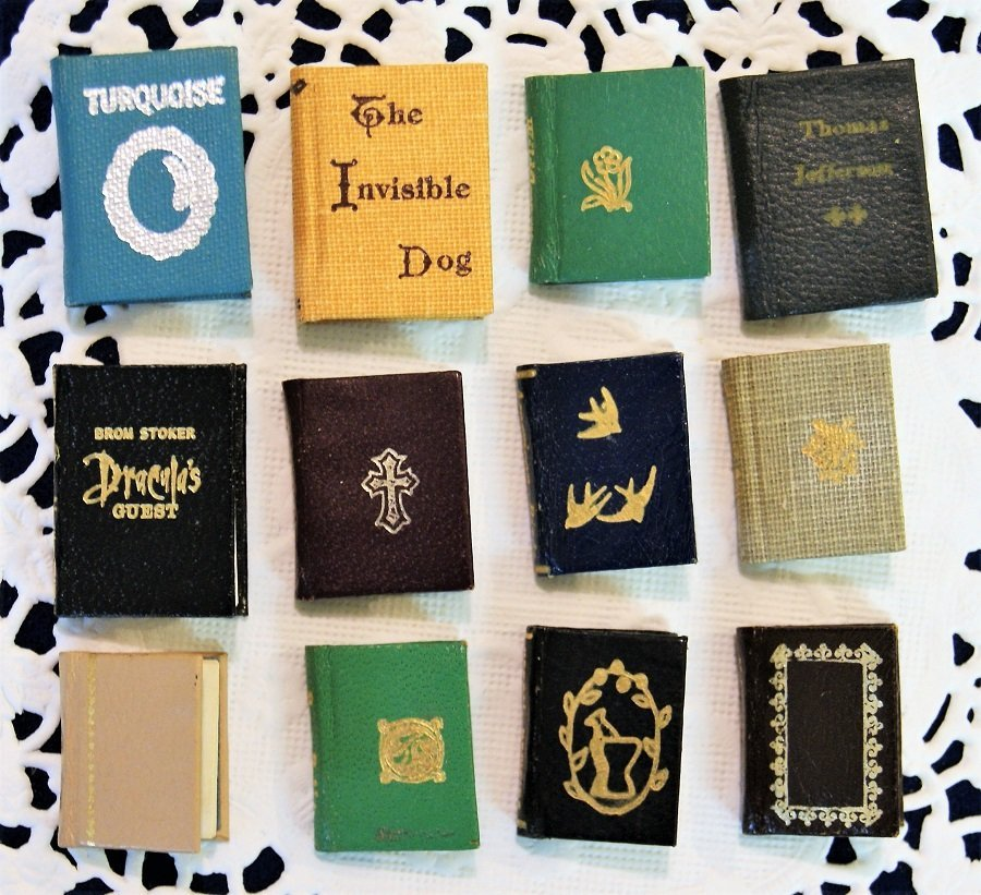 Mosaic & Borrowers Press Dollhouse Miniature Books - 2