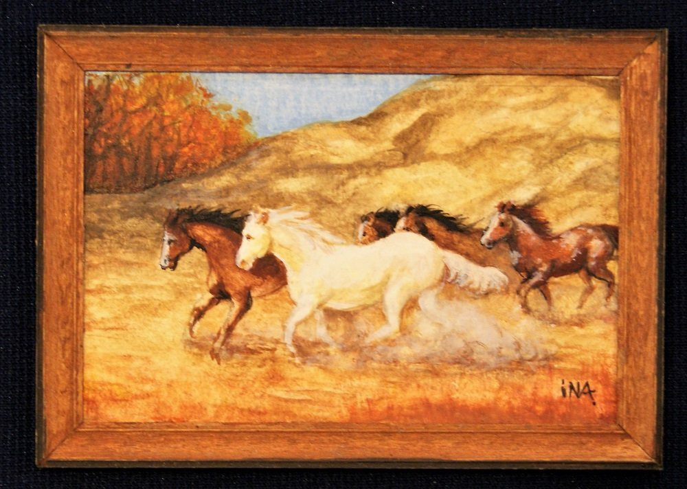 Ina Williams Horse Painting Dollhouse Miniature