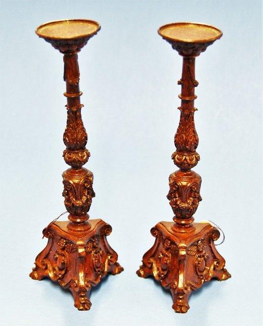Pair of John Hodgson Resin Dollhouse Pedestals - 3