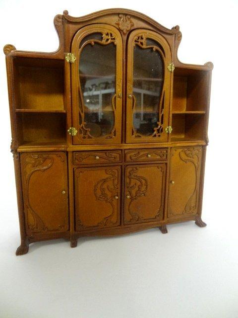 Art Nouveau Bookcase Dollhouse Miniature