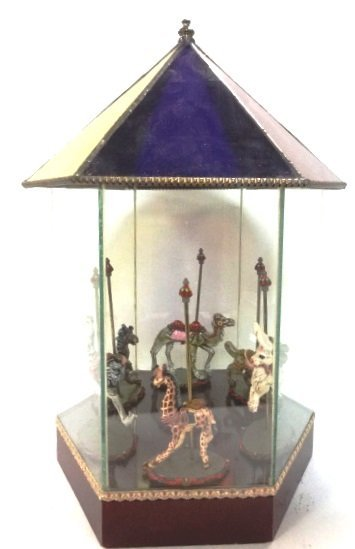 Stain Glass and Cast Iron Carousel