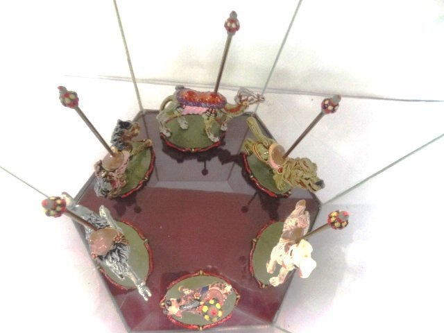 Stain Glass and Cast Iron Carousel - 2