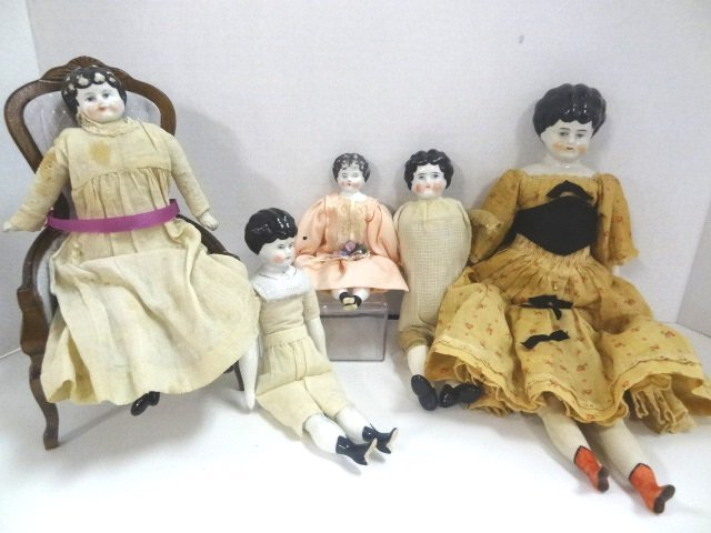 Group of China Head Dolls