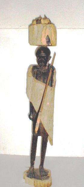 African Figure of Elder Huntsman