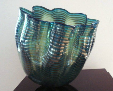 104: Chihuly GlassTeal Blue Seaform