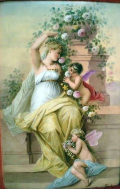 112: Painted Porcelain Plaque