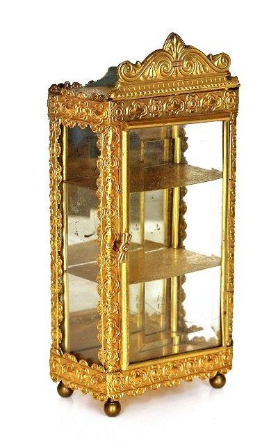 Antique Dollhouse Ormolu Vitrine Miniature