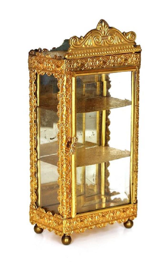 Antique Dollhouse Ormolu Vitrine Miniature - 2
