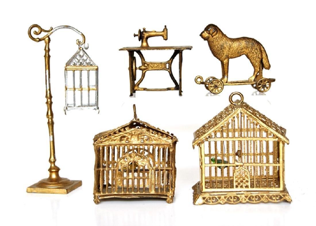 Antique Dollhouse Lead Accessories Miniatures